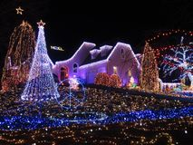 Φω'τα πνευμάτων Χριστουγέννων στη Βιρτζίνια Στοκ Φωτογραφίες