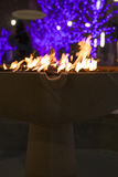 Φω'τα πυρκαγιάς και Χριστουγέννων Στοκ Φωτογραφίες