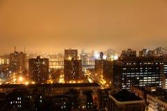 Φω'τα πόλεων της Νέας Υόρκης Στοκ φωτογραφία με δικαίωμα ελεύθερης χρήσης
