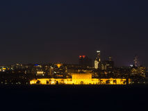Φω'τα πόλεων της Ιστανμπούλ τη νύχτα - παλάτι Dolmabahce Στοκ Εικόνες