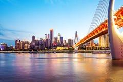 Φω'τα πόλεων της Κίνας Chongqing Στοκ εικόνες με δικαίωμα ελεύθερης χρήσης