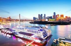Φω'τα πόλεων της Κίνας Chongqing Στοκ Φωτογραφίες