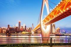 Φω'τα πόλεων της Κίνας Chongqing Στοκ φωτογραφία με δικαίωμα ελεύθερης χρήσης