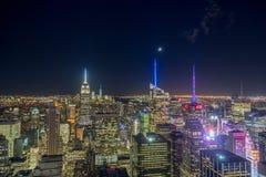 Φω'τα πόλεων της Νέας Υόρκης Στοκ εικόνα με δικαίωμα ελεύθερης χρήσης