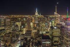 Φω'τα πόλεων της Νέας Υόρκης Στοκ Φωτογραφίες