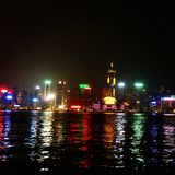Φω'τα πόλεων Χονγκ Κονγκ Στοκ Εικόνες