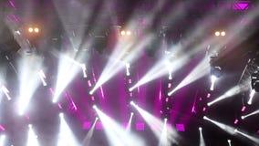 Φω'τα σκηνών στη συναυλία απόθεμα βίντεο