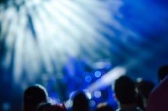 Φω'τα σκηνών στη συναυλία στοκ εικόνες