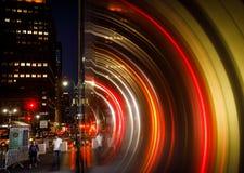 Φω'τα, σκιές και αντανακλάσεις στις οδούς NYC Στοκ Φωτογραφία