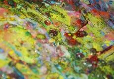 Φω'τα σπινθηρίσματος, θολωμένο μαλακό υπόβαθρο κρητιδογραφιών watercolor χρυσό Στοκ φωτογραφίες με δικαίωμα ελεύθερης χρήσης