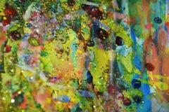 Φω'τα σπινθηρίσματος, μαλακό υπόβαθρο κρητιδογραφιών watercolor χρυσό Στοκ Εικόνα