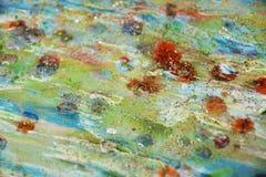 Φω'τα σπινθηρίσματος, πορτοκαλί πράσινο ρόδινο αφηρημένο υπόβαθρο κρητιδογραφιών Στοκ φωτογραφία με δικαίωμα ελεύθερης χρήσης