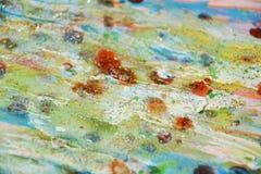 Φω'τα σπινθηρίσματος Watercolor, πορτοκαλί πράσινο ρόδινο αφηρημένο υπόβαθρο κρητιδογραφιών Στοκ Εικόνα