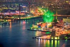 Φω'τα της Οζάκα & νύχτας στοκ εικόνες