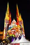 Φω'τα του καθεδρικού ναού του ST Mary Χριστουγέννων @, Σίδνεϊ, Αυστραλία στοκ φωτογραφία