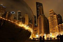 Φω'τα του Σικάγου Στοκ φωτογραφία με δικαίωμα ελεύθερης χρήσης