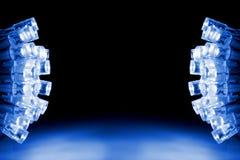 Φω'τα των δροσερών μπλε οδηγήσεων και οι δύο πλευρές της εικόνας Στοκ εικόνα με δικαίωμα ελεύθερης χρήσης
