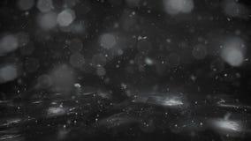 Φω'τα υποβάθρου χειμερινών τα άσπρα κινήσεων, χιόνι που αφορούν τον πάγο bokeh ο βρόχος φιλμ μικρού μήκους