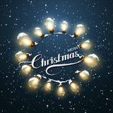 Φω'τα Χριστουγέννων Διανυσματική απεικόνιση διακοπών Στοκ φωτογραφία με δικαίωμα ελεύθερης χρήσης