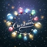 Φω'τα Χριστουγέννων Διανυσματική απεικόνιση διακοπών Στοκ εικόνα με δικαίωμα ελεύθερης χρήσης