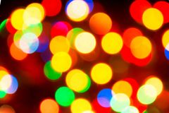 Φω'τα Χριστουγέννων Θολωμένο εορταστικό υπόβαθρο για το de ενός νέου έτους στοκ εικόνες