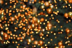 Φω'τα Χριστουγέννων που θολώνονται Στοκ Φωτογραφίες