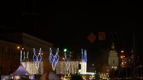 Φω'τα Χριστουγέννων στην πόλη απόθεμα βίντεο