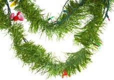 Φω'τα Χριστουγέννων στη γιρλάντα που απομονώνονται στο λευκό στοκ φωτογραφίες με δικαίωμα ελεύθερης χρήσης