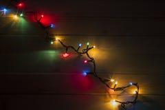 Φω'τα Χριστουγέννων στον πίνακα Στοκ εικόνες με δικαίωμα ελεύθερης χρήσης