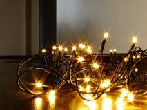 Φω'τα Χριστουγέννων στο έδαφος Στοκ Εικόνες