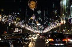 Φω'τα Χριστουγέννων στο Βουκουρέστι, Ρουμανία Στοκ εικόνα με δικαίωμα ελεύθερης χρήσης