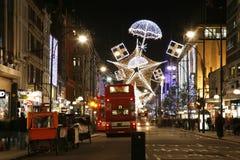 Φω'τα Χριστουγέννων στο Λονδίνο Στοκ Εικόνα