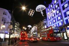 Φω'τα Χριστουγέννων στο Λονδίνο Στοκ φωτογραφίες με δικαίωμα ελεύθερης χρήσης