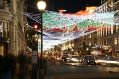 Φω'τα Χριστουγέννων στο Λονδίνο Στοκ Φωτογραφία