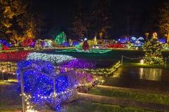 Φω'τα Χριστουγέννων Στοκ Εικόνες