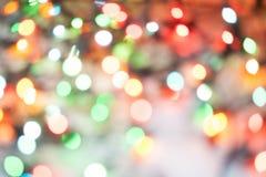 Φω'τα Χριστουγέννων bokeh που θολώνονται από το υπόβαθρο εστίασης Στοκ φωτογραφία με δικαίωμα ελεύθερης χρήσης