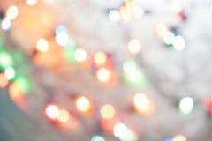 Φω'τα Χριστουγέννων bokeh που θολώνονται από το υπόβαθρο εστίασης Στοκ φωτογραφίες με δικαίωμα ελεύθερης χρήσης