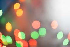 Φω'τα Χριστουγέννων bokeh που θολώνονται από το υπόβαθρο εστίασης Στοκ εικόνες με δικαίωμα ελεύθερης χρήσης