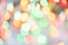 Φω'τα Χριστουγέννων bokeh που θολώνονται από το υπόβαθρο εστίασης Στοκ Εικόνα