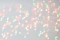 Φω'τα Χριστουγέννων bokeh που θολώνονται από το υπόβαθρο εστίασης Στοκ εικόνα με δικαίωμα ελεύθερης χρήσης