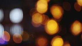 Φω'τα Boke πόλεων νύχτας Εορταστικός φωτισμός, φυσική θολωμένη Defocused επίδραση υποβάθρου Bokeh απόθεμα βίντεο