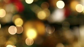 Φω'τα Bokeh Χριστουγέννων απόθεμα βίντεο