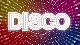 Φω'τα Disco με το σημάδι DISCO διανυσματική απεικόνιση