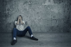 Φόβος καταναλωτών ναρκωτικών Στοκ εικόνες με δικαίωμα ελεύθερης χρήσης
