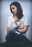 Φόβος, μοναξιά, κατάθλιψη, κατάχρηση Στοκ εικόνες με δικαίωμα ελεύθερης χρήσης