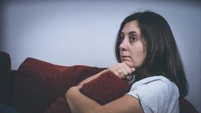 Φόβος, μοναξιά, κατάθλιψη, κατάχρηση Στοκ Εικόνες