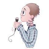 Φόβος της δημόσιας ομιλίας, glossophobia Ενθουσιασμός και απώλεια φωνής απεικόνιση αποθεμάτων