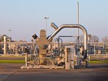 Φόντο εργοστασίων επεξεργασίας φρεατίων φυσικού αερίου Στοκ Φωτογραφία