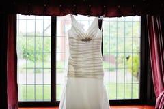 Φόρεμα γαμήλιων νυφών στοκ εικόνα