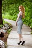 Φόρεμα γραφείων και υψηλά τακούνια στοκ φωτογραφίες με δικαίωμα ελεύθερης χρήσης